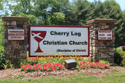 Cherry Log Christian Church Sign